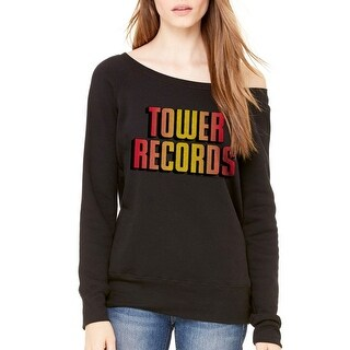 Tower Records Logo Shadow Women's Black Sweatshirt