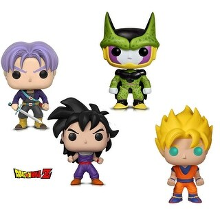 Funko Pop! Animation Dragon Ball Z - Perfect Cell, Super Saiyan Goku, Gohan (Training Outfit) and Trunks (4 Items)