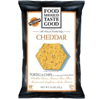 Food Should Taste Good - Cheddar Tortilla Chips ( 12 - 5.5 oz bags)