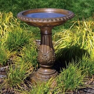 BOND Y97030 23.7 x 23.7 x 29 Bronze Torrie Fiberglass Birdbath