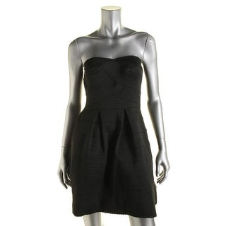 Aqua Womens Strapless A-Line Cocktail Dress