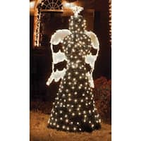 6.5' Giant Commercial Grade LED Lighted Angel Topiary Christmas Outdoor Decoration