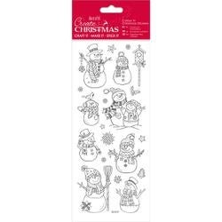 Snowmen-Papermania Color In Christmas Stickers