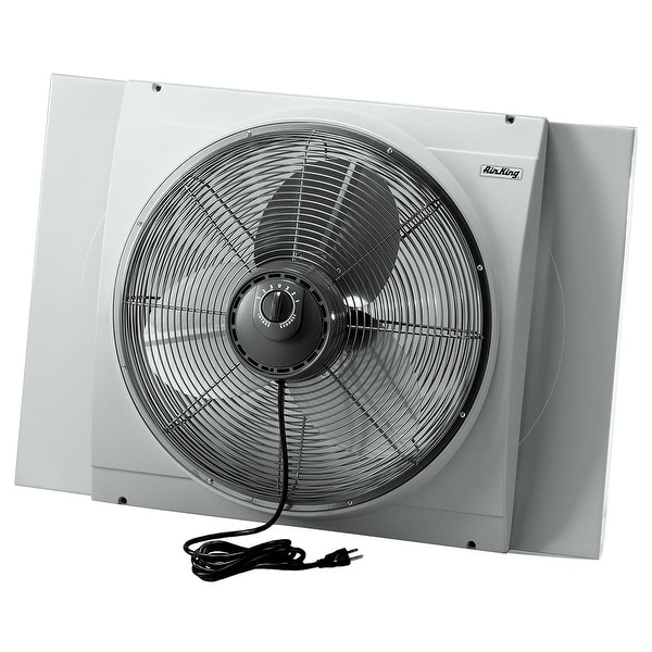 Air King 9166 20 Inch 3560 CFM Whole House Window Mounted Fan with Storm Guard Housing from the Window Fans Collection - na