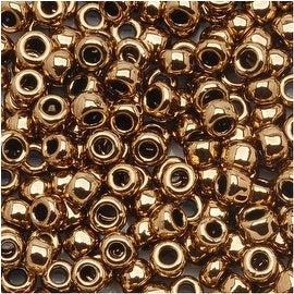 Toho Round Seed Beads 6/0 221 'Bronze' 8g
