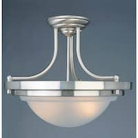 Volume Lighting V2172 2-Light Semi-Flush Ceiling Fixture - Brushed nickel
