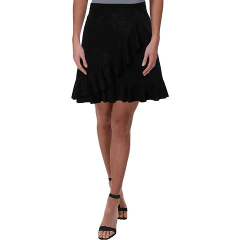 BB Dakota Womens Vibe Tulip Skirt Faux Suede Above Knee
