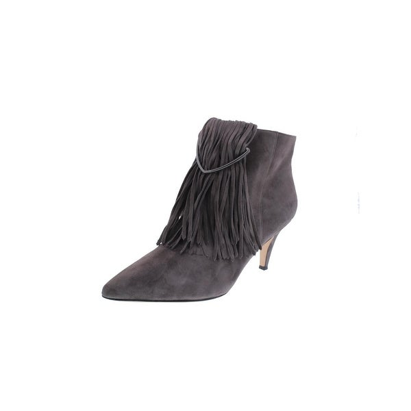 Brian Atwood Womens Perri Booties Suede Pointed Toe - 9.5 medium (b,m)