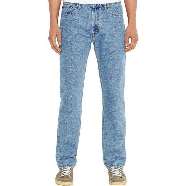f2effa5224a Shop Levi's Mens 505 Straight Leg Jeans Light Wash Regular Fit ...