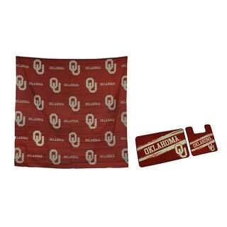 NCAA Oklahoma Sooners 3 Piece Bath Accessory Set - Red