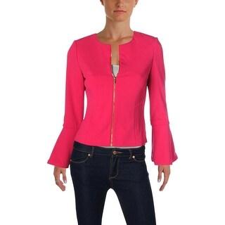 Calvin Klein Womens Petites Jacket Office Wear Bell Sleeves - 4P