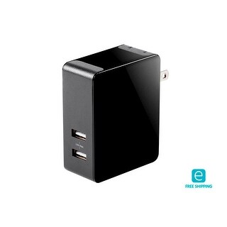 Essentials 2-Port 4.8A USB Smart Charger