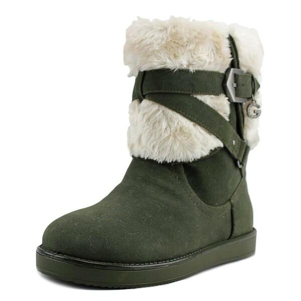 G By Guess Alixa Women Dark Green Snow Boots