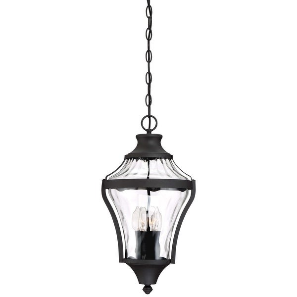 Shop The Great Outdoors 72564 66 Libre 4 Light 10 7 8in Wide Outdoor Pendant With Water Glass Shade