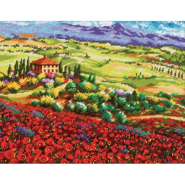 """Tuscan Poppies Needlepoint Kit-14""""X11"""" Stitched In Thread"""