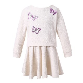 Richie House Girls' Sweet Suit with Skirt