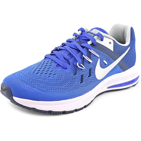 Nike Zoom Winflo 2 Men Round Toe Canvas Blue Running Shoe