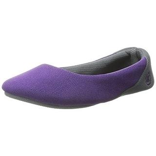 Isotoner Womens Marcy Matte Satin Memory Foam Ballet Slippers