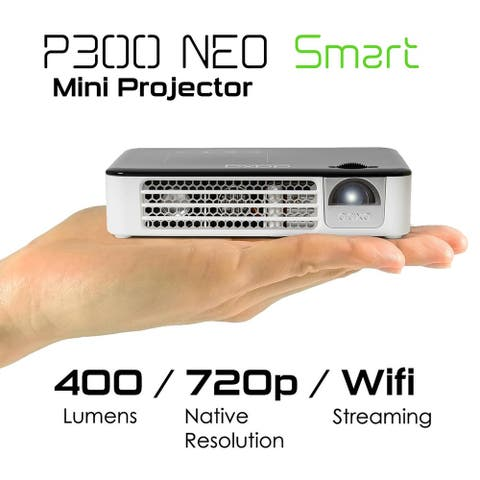 AAXA P300 Neo Smart LED Mini Pico Projector with Android, WiFi, Bluetooth, HDMI for Business and Home Theater