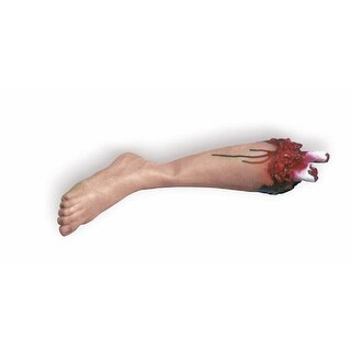 Bloody Body Part Scary Leg Halloween Costume Prop - TAN