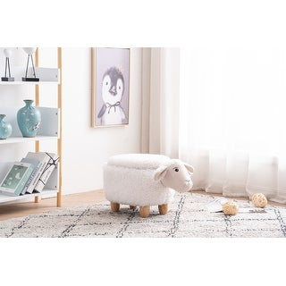 Link to Shiloh the Sheep Storage Upholstered Kids Ottoman Similar Items in Kids' & Toddler Furniture
