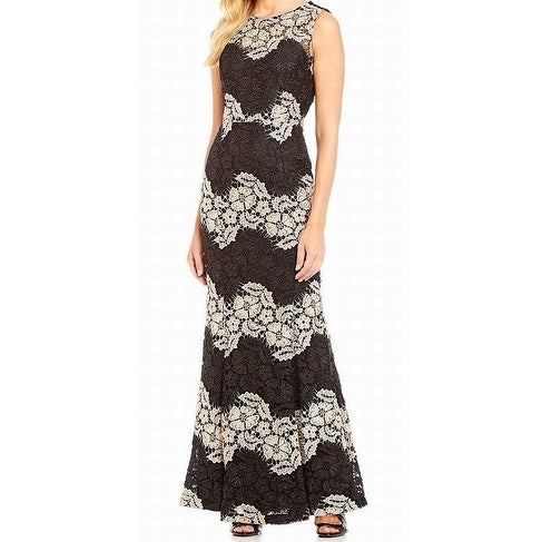 ebcfd78cbff Shop Calvin Klein NEW Black Nude Womens Size 10 Crochet-Lace Ball Gown - Free  Shipping Today - Overstock.com - 20314731