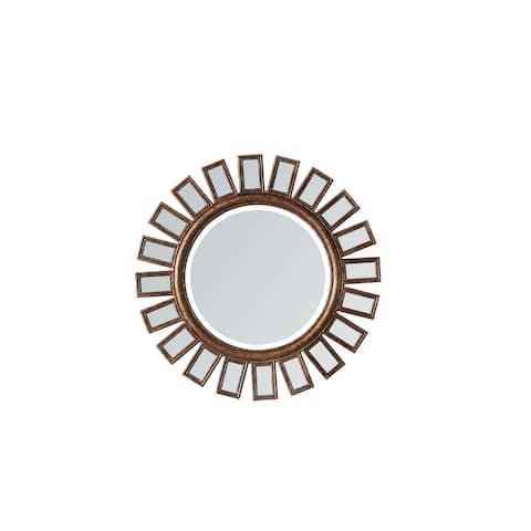 "Avellino 30"" Circle Bathroom/Vanity Antique Brass framed Wall Mirror"