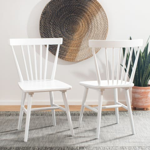 """SAFAVIEH Winona Spindle Farmhouse Dining Chairs (Set of 2) - 20.1"""" x 20.3"""" x 32.8"""""""