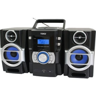"""Naxa NPB429 Naxa NPB-429 Mini Hi-Fi System - 16 W RMS - iPod Supported - Black - CD Player - FM - 2 Speaker(s) - CD-DA, MP3 -"