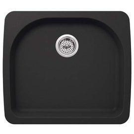 "Miseno MGR2522 Carolina 25"" Single Basin Drop In or Undermount Granite Composite Kitchen Sink - Basket Strainer Included"
