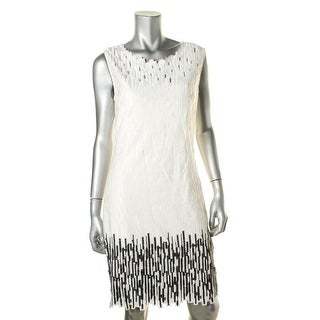 Elie Tahari Womens Ivana Cotton Embroidered Wear to Work Dress - 10