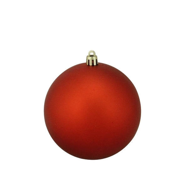 """Burnt Orange Shatterproof Matte Christmas Ball Ornament 4"""" (100mm)"""