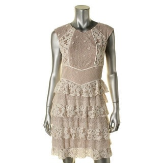 BCBG Max Azria Womens Party Dress Lace Overlay Sleeveless - 6