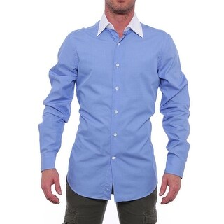 Valentino Long Sleeve Collared Button Down Men Regular Dress Button