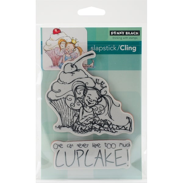 "Penny Black Cling Stamp 5""X7""-Cupcake"