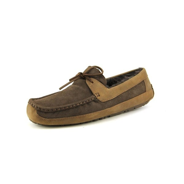Ugg Australia Byron Men Suede Brown Moccasin Slippers Shoes