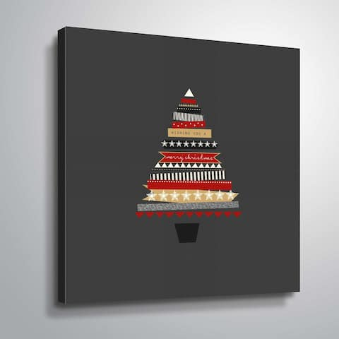 ArtWall Collage Tree Gallery Wrapped Canvas