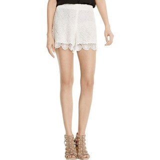 Vince Camuto Womens Dress Shorts Lace Embroidered