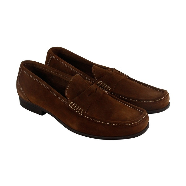 Florsheim Felix Penny Mens Brown Suede Casual Dress Slip On Loafers Shoes