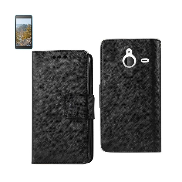 REIKO NOKIA LUMIA 640 XL 3-IN-1 WALLET CASE IN BLACK