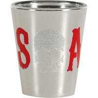 Sons of Anarchy Glitter Skull Logo Shot Glass - Multi