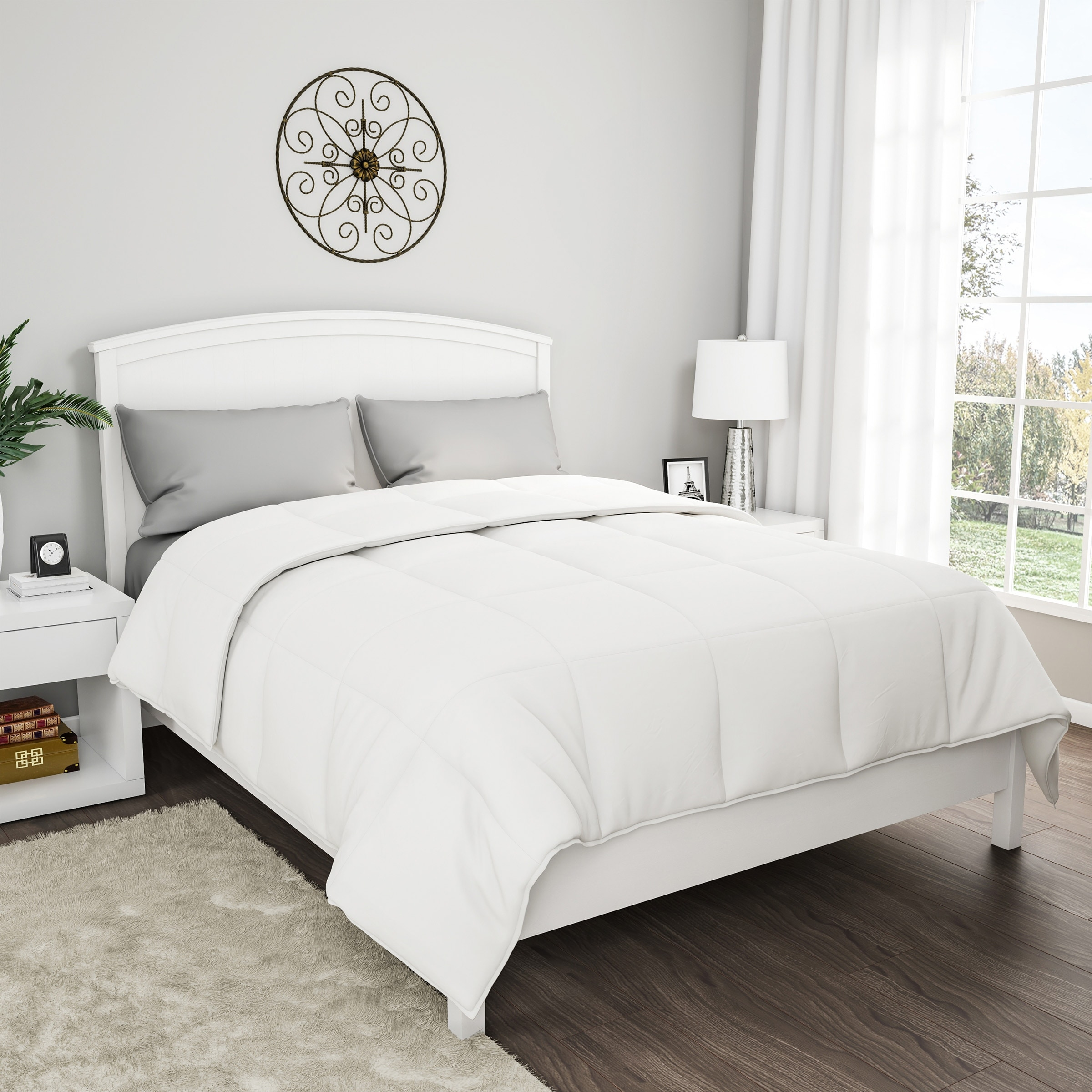 Windsor Home 100 Cotton Feather Down Bedding Comforter On Sale Overstock 10157133