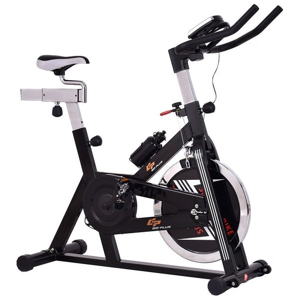 Costway Adjustable Exercise Bike Bicycle Cycling Cardio Fitness LCD w/ 40lb Flywheel