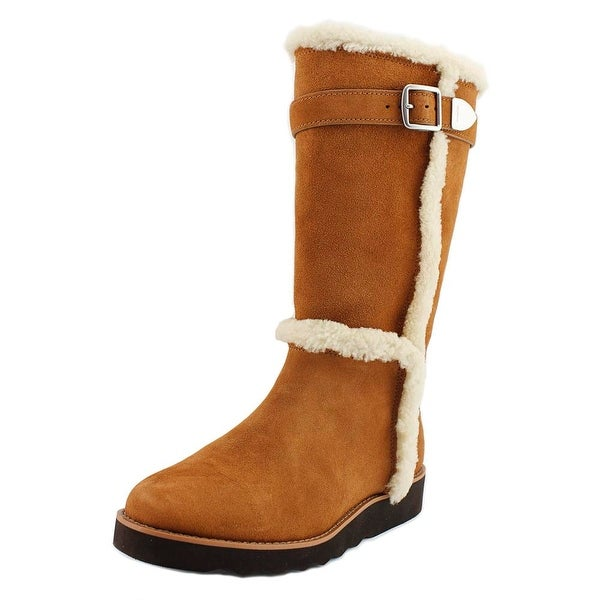 Coach Belmont Women Round Toe Suede Brown Winter Boot