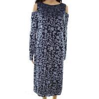 Maggy London Velvet Cold-Shoulder Women's Shift Dress