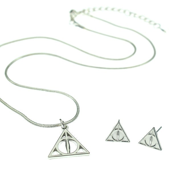 0ed8041f87cea Shop Harry Potter Deathly Hallows Necklace and Earring Jewelry Gift ...