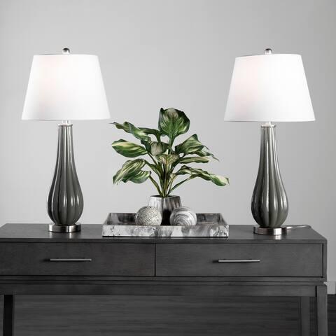 """nuLOOM Adams 29"""" Glass Table Lamp Set"""
