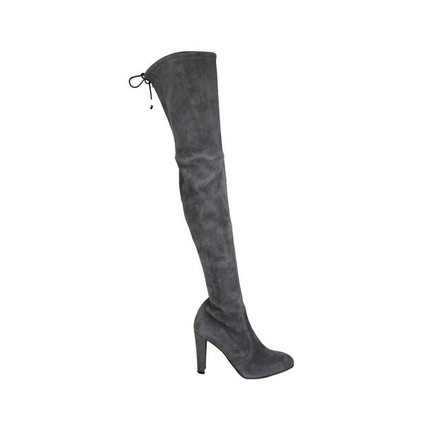 Slate Suede Highland Over-The-Knee Boot
