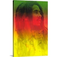 Premium Thick-Wrap Canvas entitled Bob Marley () - Multi-color
