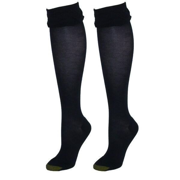 Gold Toe Women's Plus Size Non Binding Knee Socks (2 Pair Pack)
